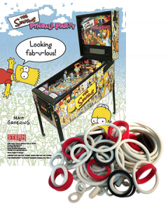 The Simpsons Pinball Party Rubberset