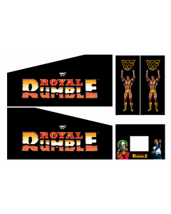 WWF Royal Rumble Cabinet Decals