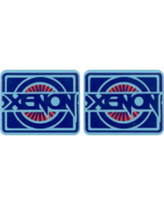 Xenon Spinner Decal Set Laminated