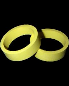"""Flipper Rubber 1 1/2"""" x 1/2"""" Yellow"""