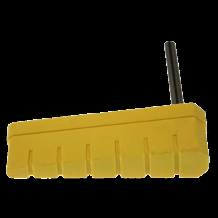 Williams Logo Pinball Clear Yellow Translucent Flipper Plastics Bats w// Shafts