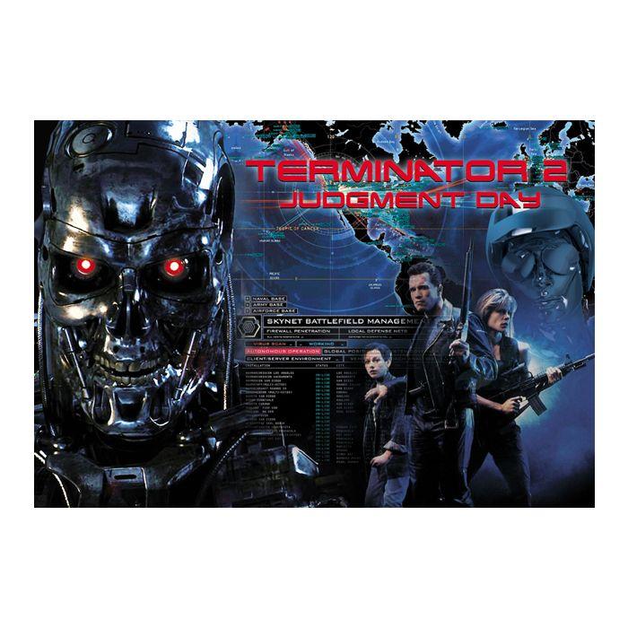 Terminator 2 Pinball Alternate Translite 2 Versions to Choose From!
